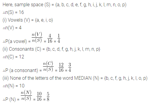 ML Aggarwal Class 10 Solutions for ICSE Maths Chapter 22 Probability Ex 22 Q22