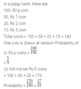 ML Aggarwal Class 10 Solutions for ICSE Maths Chapter 22 Probability Ex 22 Q14