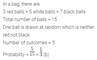 ML Aggarwal Class 10 Solutions for ICSE Maths Chapter 22 Probability MCQS Q18