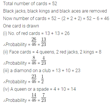 ML Aggarwal Class 10 Solutions for ICSE Maths Chapter 22 Probability Chapter Test Q15