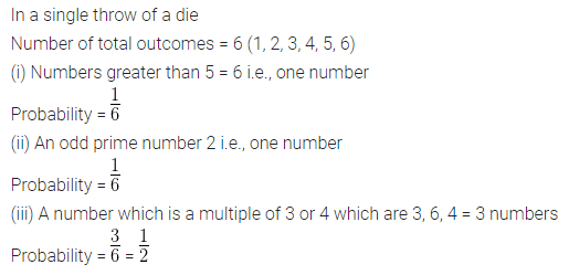 ML Aggarwal Class 10 Solutions for ICSE Maths Chapter 22 Probability Chapter Test Q2