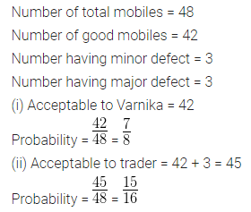 ML Aggarwal Maths for Class 10 Solutions Pdf Download Chapter 22 Probability Chapter Test Q4
