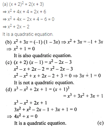ML Aggarwal Class 10 Solutions for ICSE Maths Chapter 5 Quadratic