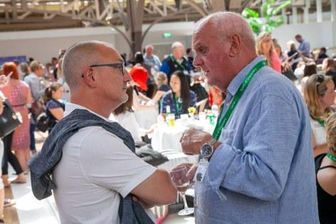 Saga Spirit of Discovery VIP Trade Event 2-4 July 2019 - Phil Nuttall, Dennis Gardner, both Travel Village
