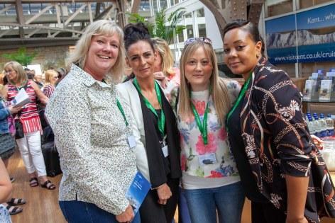 Saga Spirit of Discovery VIP Trade Event 2-4 July 2019 - Louise Renyard, Coby Hatton, Kristal Fraser, Natasha Jones, all Central England Co-operative Travel