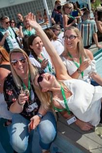 Saga Spirit of Discovery VIP Trade Event 2-4 July 2019 - Ruth Horn, Kara-Luisa Moodie, both Planet Cruise, Victoria Hosner, Iglu, Jennifer Moss, Planet Cruise