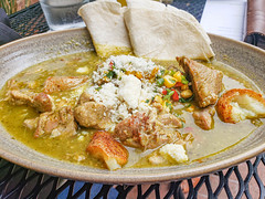 Pork Chile Verde at Yeast of Eden