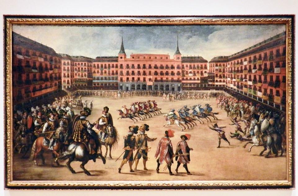 Plaza Mayor de Madrid 1662 pintura Museo de Historia de Madrid