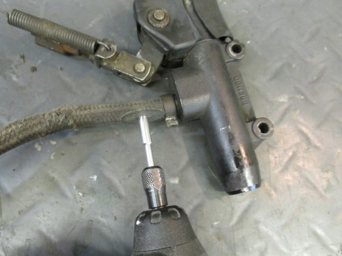 Cutting Clamp on Rear Master Cylinder Fluid Reservoir Line