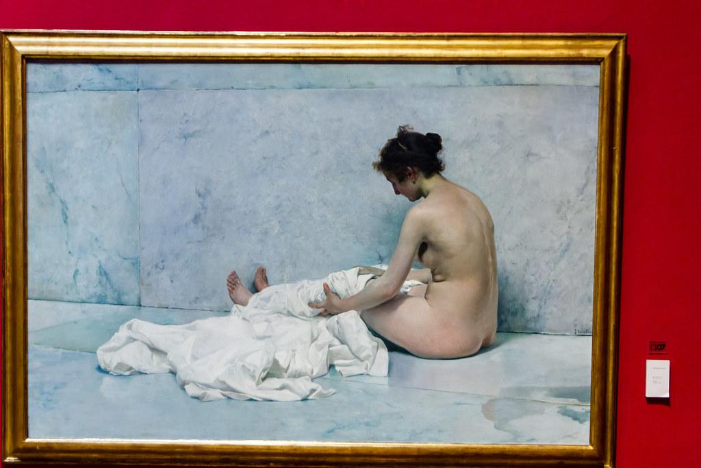 Despues del baño 1892 pintura Museo Sorolla Madrid