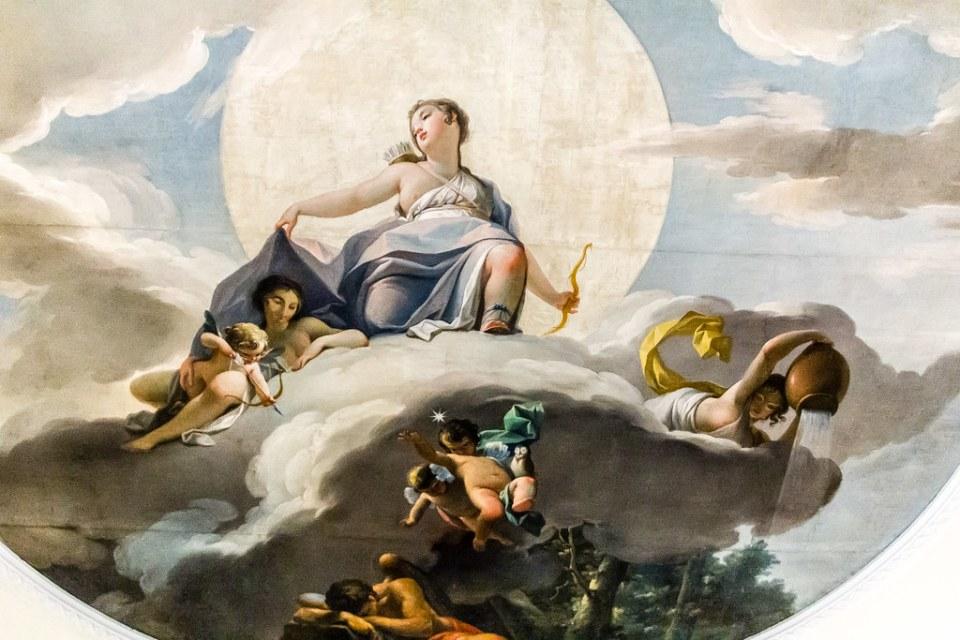 pintura mural en el techo Museo del Romanticismo Madrid