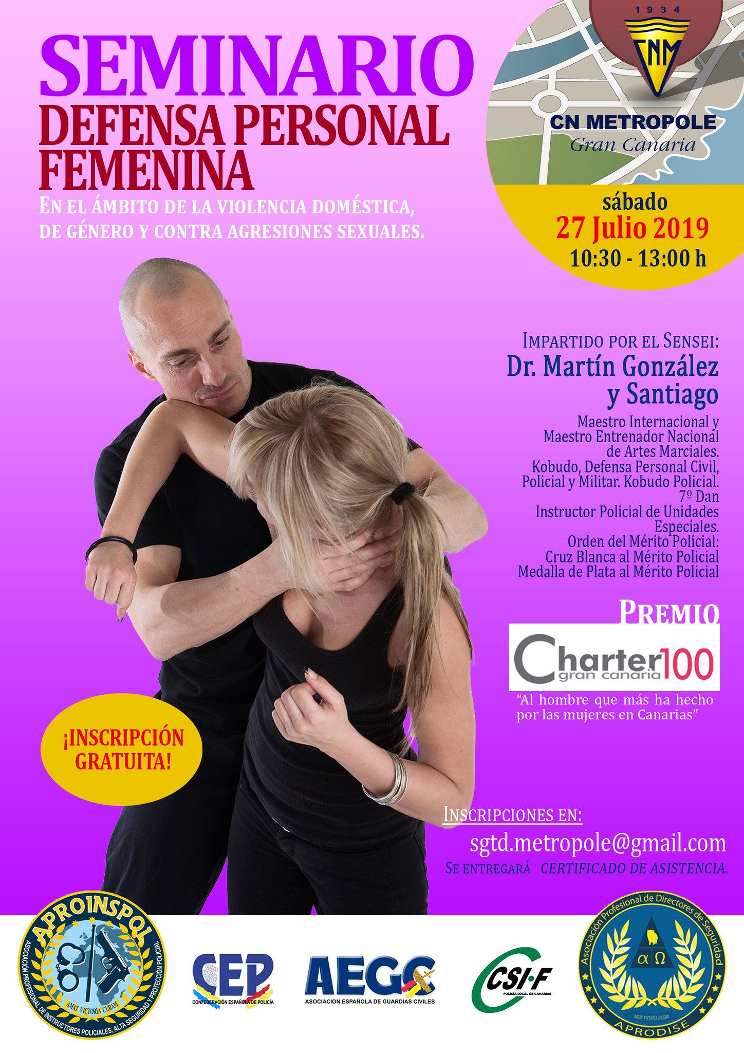 Seminario de Defensa Personal Femenina por Martín González