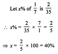 ML Aggarwal Class 7 Solutions for ICSE Maths Chapter 7 Percentage and Its Applications Objective Type Questions Q10