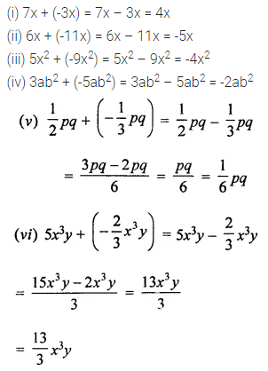 ML Aggarwal Class 7 Solutions for ICSE Maths Chapter 8 Algebraic Expressions Ex 8.2 Q1
