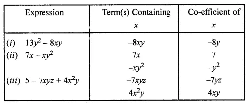 ML Aggarwal Class 7 Solutions for ICSE Maths Chapter 8 Algebraic Expressions Ex 8.1 Q11