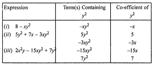 ML Aggarwal Class 7 Solutions for ICSE Maths Chapter 8 Algebraic Expressions Ex 8.1 Q12