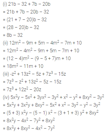 ML Aggarwal Class 7 Solutions for ICSE Maths Chapter 8 Algebraic Expressions Ex 8.2 Q3