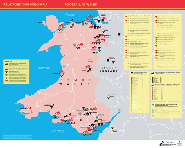 Poster Pêl-droed yng Nghymru   Football in Wales poster