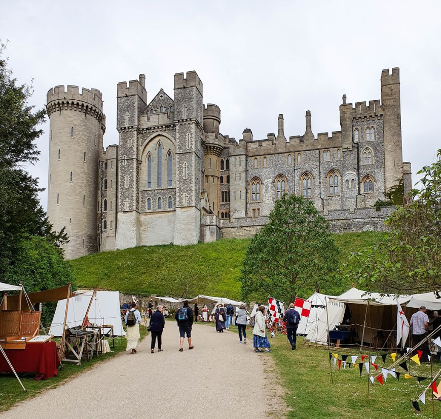 View of Arundel Castle after entering to the grounds