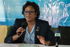 Minister of Public Telecommunications, Hon. Catherine Hughes.