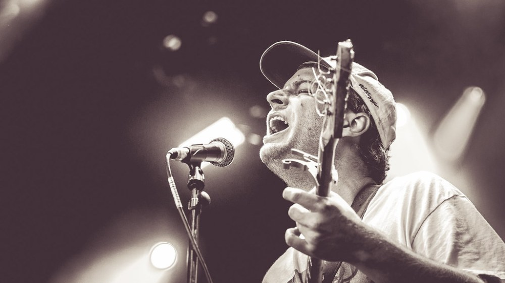 American musician Mac Demarco performing at Iveagh Garden in Dublin, Ireland on July 14th, 2019