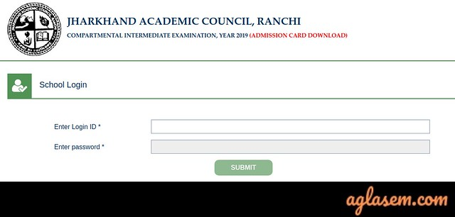 JAC 12th Compartment Admit Card 2019