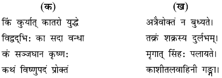NCERT Solutions for Class 8 Sanskrit Chapter 15 प्रहेलिकाः 1