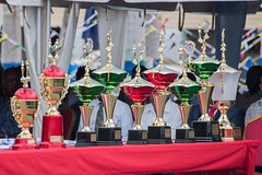 Some of the trophies awarded to Police Officers.