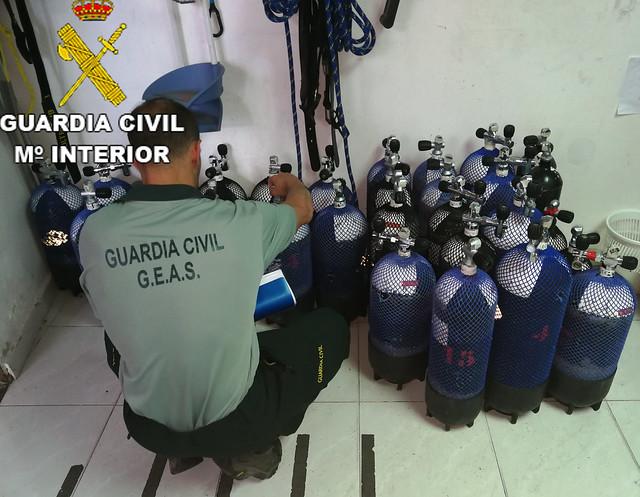 La Guardia Civil denuncia nueve infracciones sobre buceo en la isla de Lanzarote