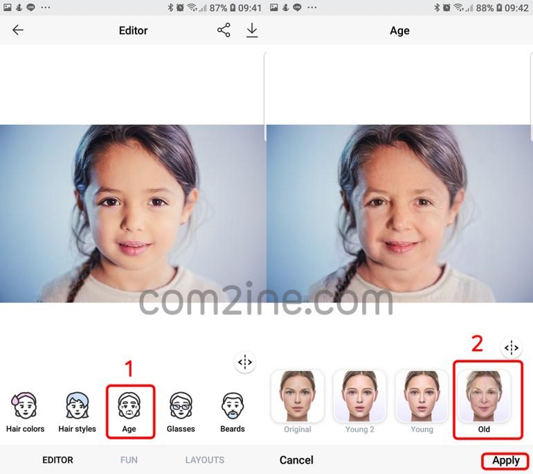 หน้าเลือกฟิลเตอร์หน้าแก่ แอพหน้าแก่ ที่กำลังฮิต FaceApp