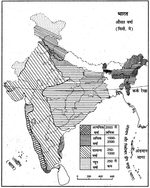 RBSE Solutions for Class 11 Indian Geography Chapter 6 भारत की जलवायु 2