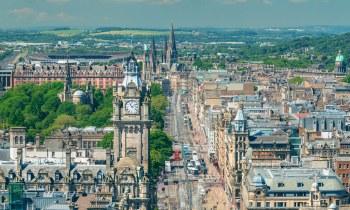 Edinburgh - Princes Street from Nelson Monument