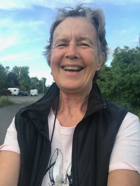 Carleton Place - Linda happy about the trip