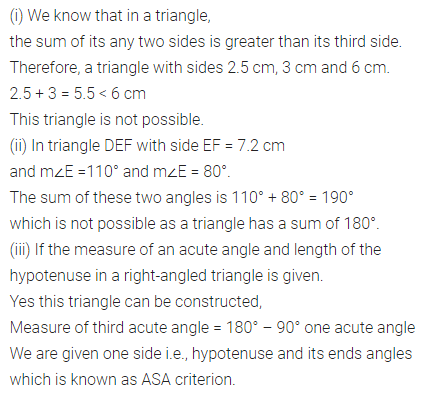 ML Aggarwal Class 7 Solutions for ICSE Maths Chapter 13 Practical Geometry Check Your Progress Q1