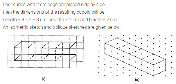 ML Aggarwal Class 7 Solutions for ICSE Maths Chapter 15 Visualising Solid Shapes Check Your Progress Q2