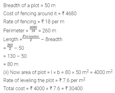 ML Aggarwal Class 7 Solutions for ICSE Maths Chapter 16 Perimeter and Area Ex 16.1 Q16
