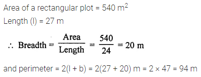 ML Aggarwal Class 7 Solutions for ICSE Maths Chapter 16 Perimeter and Area Ex 16.1 Q3