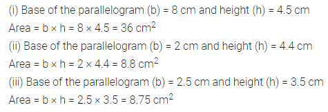 ML Aggarwal Class 7 Solutions for ICSE Maths Chapter 16 Perimeter and Area Ex 16.2 Q1.1