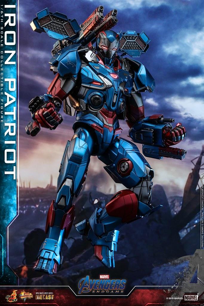 令人大呼過癮的重裝火力!! Hot Toys – MMS547D34 -《復仇者聯盟:終局之戰》鋼鐵愛國者 Iron Patriot 1/6 比例人 ...
