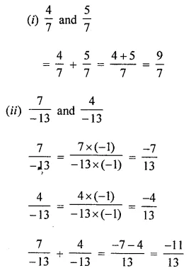 ICSE Mathematics Class 8 Solutions Chapter 1 Rational Numbers Ex 1.1 Q1.1