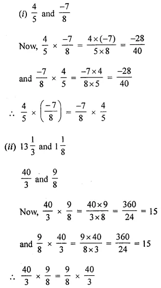 ML Aggarwal Class 8 Solutions for ICSE Maths Chapter 1 Rational Numbers Ex 1.3 Q2