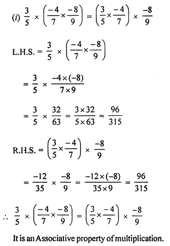 ML Aggarwal Maths for Class 8 Solutions Book Pdf Chapter 1 Rational Numbers Ex 1.3 Q3.1