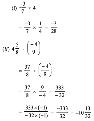 ML Aggarwal Class 8 Solutions for ICSE Maths Chapter 1 Rational Numbers Ex 1.4 Q1.1
