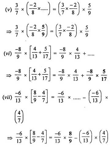 ML Aggarwal Class 8 Solutions for ICSE Maths Chapter 1 Rational Numbers Ex 1.3 Q7.2