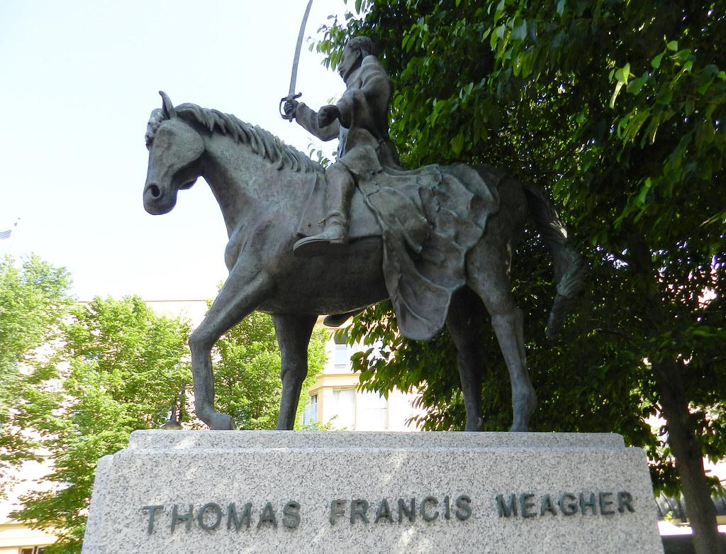 estatua ecuestre escultura monumento a Thomas Francis Meagher Waterford Republica de Irlanda 02