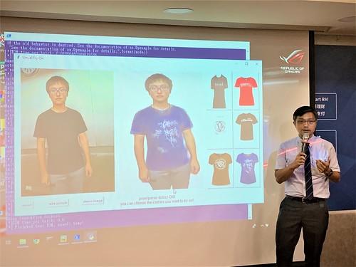 元智電通學院陳敦裕副院長說明人工智慧 開發虛擬試穿系統-新聞2