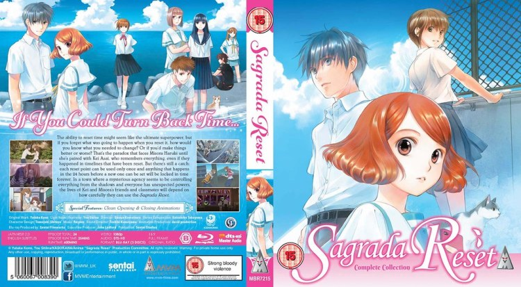 Sagrada reset Bluray box cover art MVM entertianment