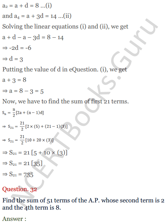 KC Sinha Maths Solution Class 10 Chapter 8 - Arithmetic Progressions (AP) - 156