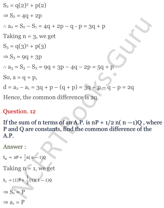 KC Sinha Maths Solution Class 10 Chapter 8 - Arithmetic Progressions (AP) - 126
