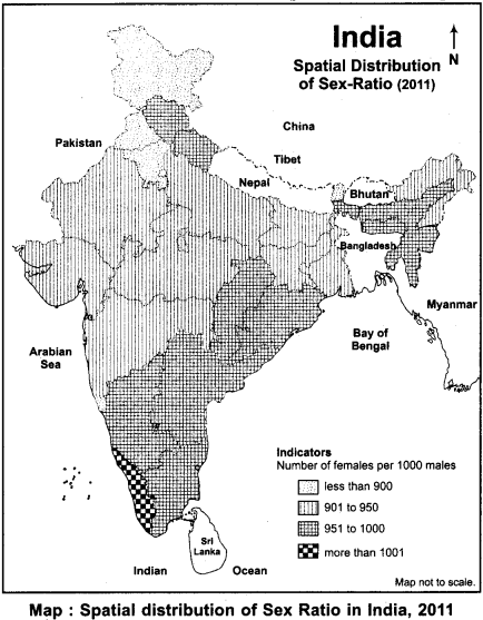 RBSE Solutions for Class 12 Geography Chapter 14 India Composition of Population 10